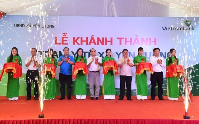 Khánh thành Trạm y tế xã Yên Lương tại tỉnh Phú Thọ do Vietcombank tài trợ 2 tỷ đồng - 1