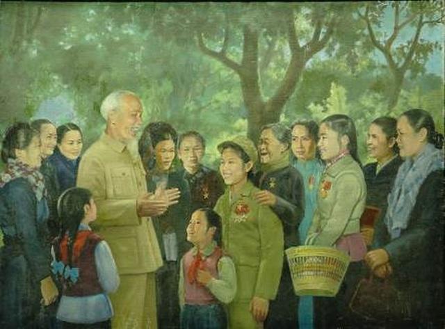 """Bảo tàng Mỹ thuật Việt Nam giới thiệu triển lãm đặc biệt """"Nhớ về Bác"""" - 7"""