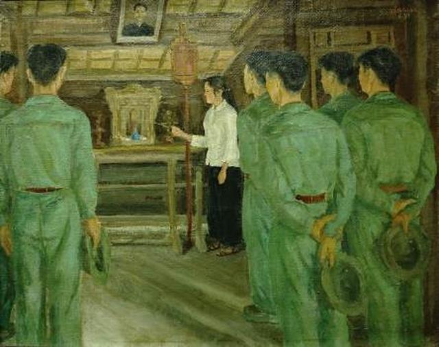 """Bảo tàng Mỹ thuật Việt Nam giới thiệu triển lãm đặc biệt """"Nhớ về Bác"""" - 9"""
