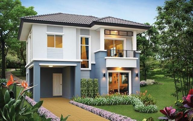 Những mẫu nhà 2 tầng mái thái kiểu mới đẹp ngẩn ngơ - 2