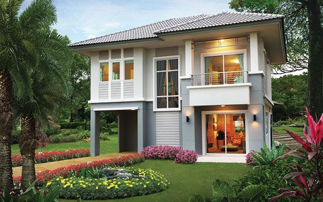 Những mẫu nhà 2 tầng mái thái kiểu mới đẹp ngẩn ngơ - 3