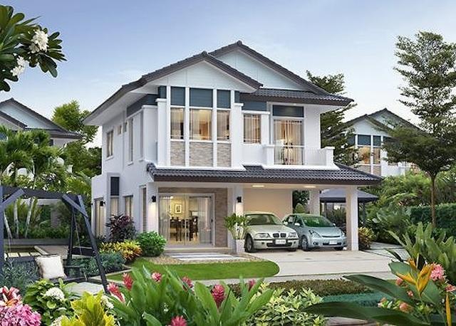 Những mẫu nhà 2 tầng mái thái kiểu mới đẹp ngẩn ngơ - 4