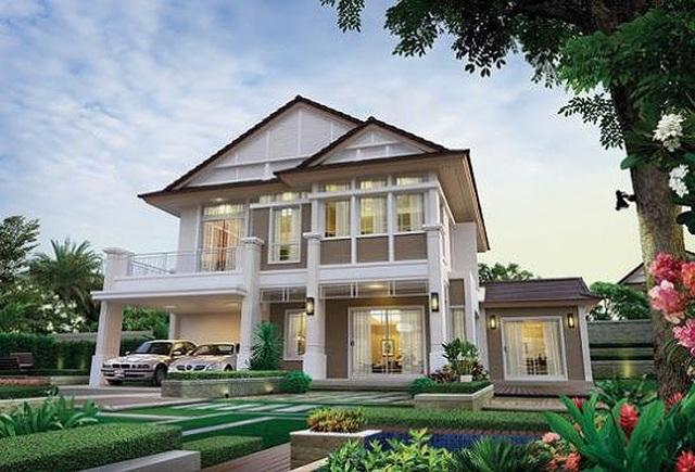 Những mẫu nhà 2 tầng mái thái kiểu mới đẹp ngẩn ngơ - 6