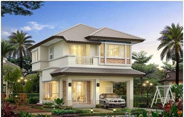 Những mẫu nhà 2 tầng mái thái kiểu mới đẹp ngẩn ngơ - 7