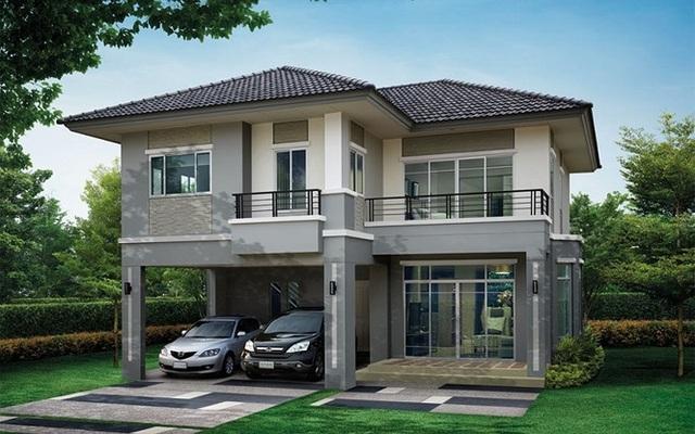 Những mẫu nhà 2 tầng mái thái kiểu mới đẹp ngẩn ngơ - 8