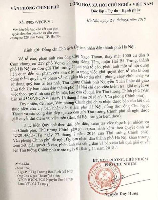 Cư dân chung cư 229 phố Vọng kêu cứu: Quả bóng trách nhiệm được đá đến bao giờ? - 2