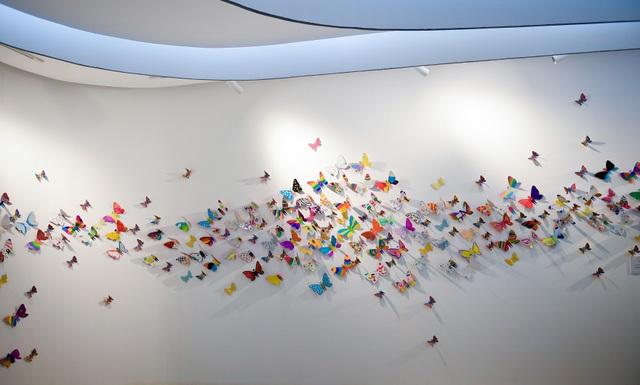 Tác phẩm mỹ thuật khổng lồ với 1300 cánh bướm giấy xuất hiện ở Hà Nội - 3