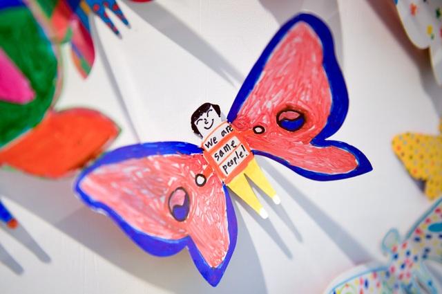 Tác phẩm mỹ thuật khổng lồ với 1300 cánh bướm giấy xuất hiện ở Hà Nội - 12