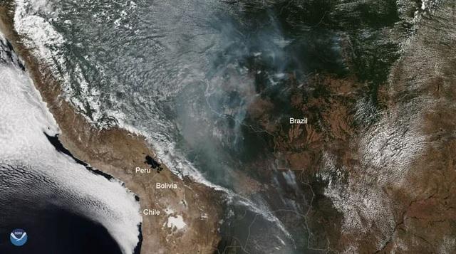 Bức ảnh phản ánh tình trạng hỏa hoạn khủng khiếp tàn phá lá phổi xanh Amazon - 1