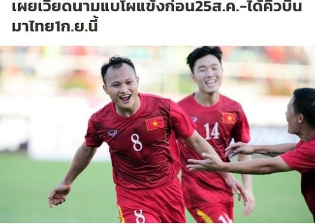 Báo Thái Lan mừng thầm khi đội tuyển Việt Nam gặp khó khăn - 1