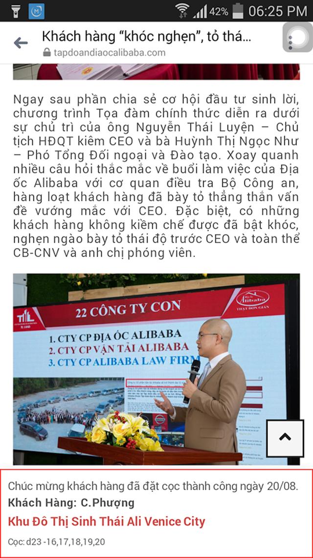 Phong tỏa tài khoản của các chóp bu Công ty địa ốc Alibaba - 2