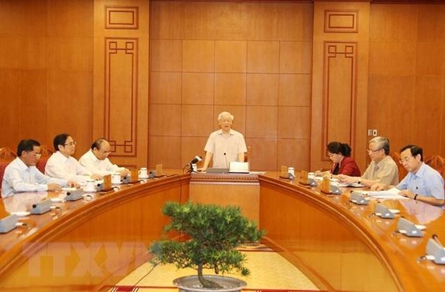 Tổng Bí thư, Chủ tịch nước chủ trì họp Tiểu ban Nhân sự Đại hội Đảng - 2