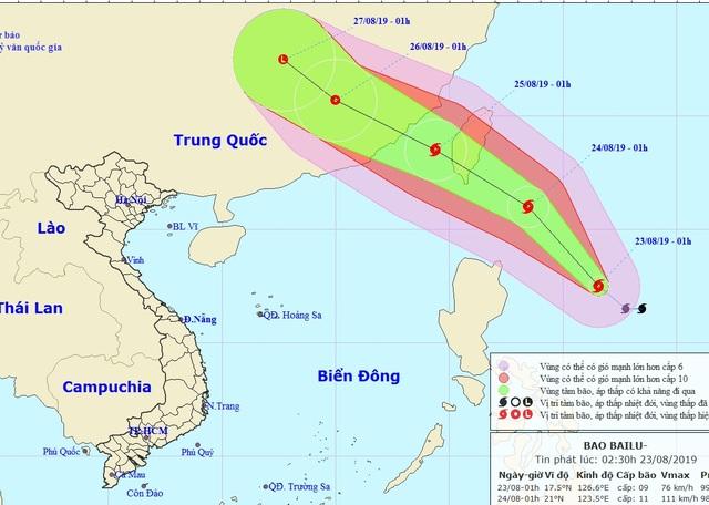 Bão Bailu gần Biển Đông sẽ tiếp tục mạnh lên - 1