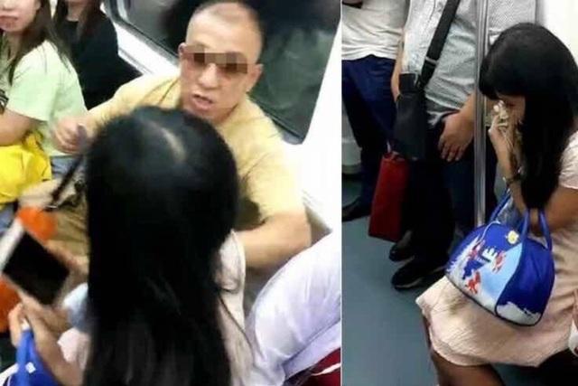 Người đàn ông đánh đập, chửi bới cô gái trẻ để tranh chỗ ngồi trên tàu - 1