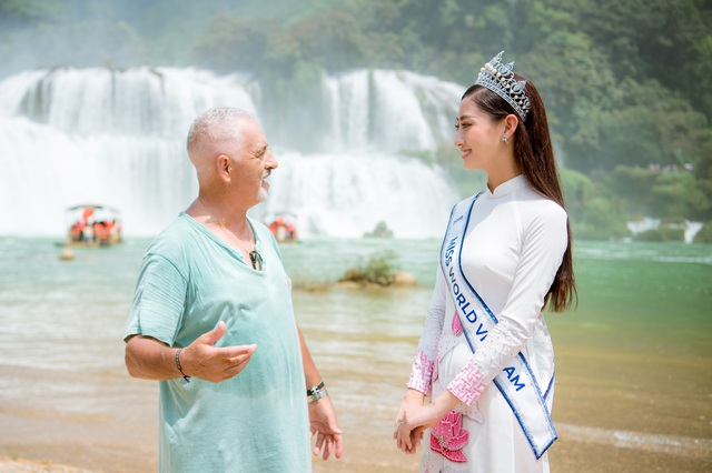 Hoa hậu Lương Thuỳ Linh thả dáng giữa chốn bồng lai tiên cảnh của Cao Bằng - 7