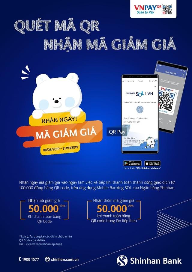 Nhận ngay 100.000 đồng khi thanh toán bằng QR Pay trên ứng dụng của Shinhan Bank - 1