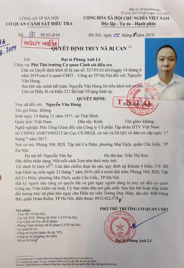 Hà Nội: Truy nã Phó Tổng Giám đốc lừa đảo tiền tỉ tại dự án nhà ở - 1