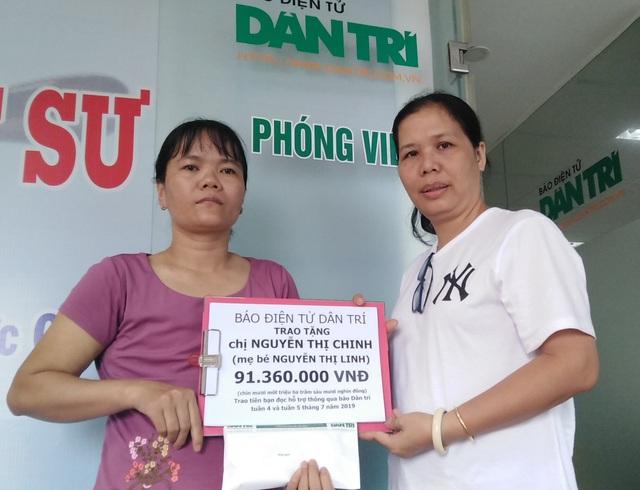Bạn đọc Dân trí giúp 2 mẹ con cùng bị ung thư hơn 91 triệu đồng - 1