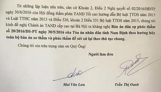 Nam Định: Kháng nghị giám đốc thẩm, huỷ cả 2 bản án sau phản ánh của Báo Dân trí - 5