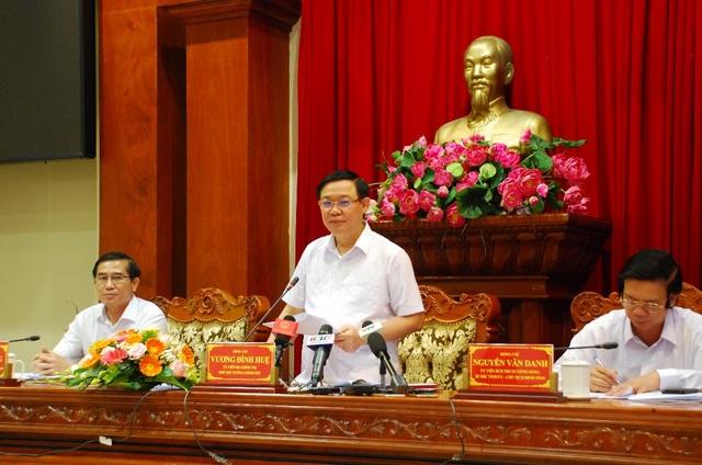 Phó thủ tướng Vương Đình Huệ làm việc với lãnh đạo Tiền Giang về cao tốc Trung Lương - Mỹ Thuận - 1