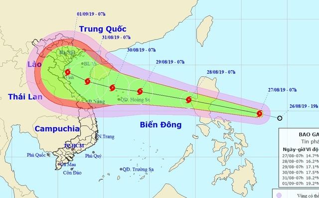 Xuất hiện bão Podul gần Biển Đông - 1