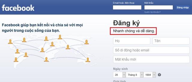 """Facebook âm thầm thay đổi khẩu hiệu, không còn """"miễn phí"""" như trước - 2"""