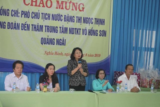 Phó Chủ tịch nước thăm học sinh khuyết tật tỉnh Quảng Ngãi - 1