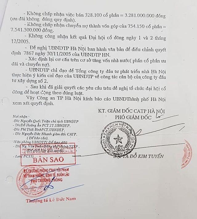 Toà án đợi công an TP Hà Nội hồi âm vụ sai phạm của nguyên giám đốc Công ty Hacinco - 5