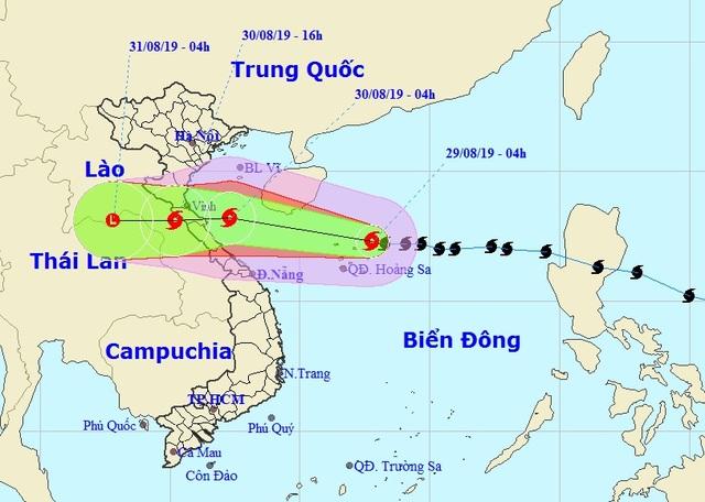 Bão số 4 áp sát Quần đảo Hoàng Sa, giữ nguyên hướng vào Bắc miền Trung - 1