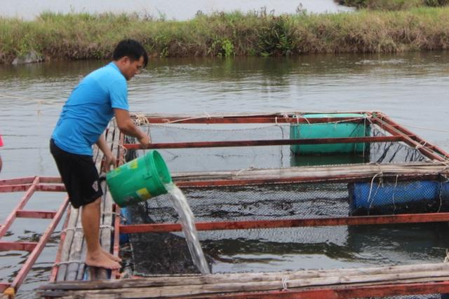 Người dân gạt bèo gánh cá đặc sản chạy mưa bão - 7