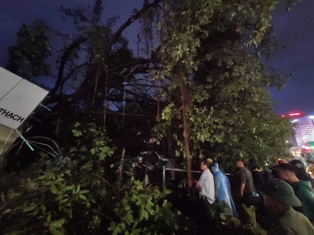 Hà Nội: Cây xanh đổ ngổn ngang, chèn bẹp ô tô, đè chết người trong giông lốc khủng - 18