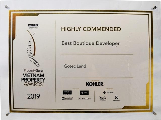 Giải thưởng Vietnam Property Awards 2019 vinh danh chủ đầu tư Gotec Land - 2