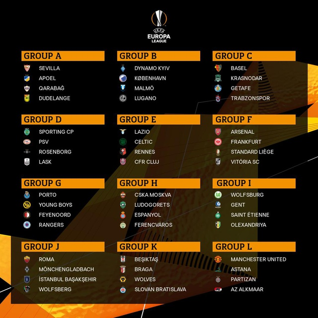 MU và Arsenal dễ thở ở vòng bảng Europa League - 2
