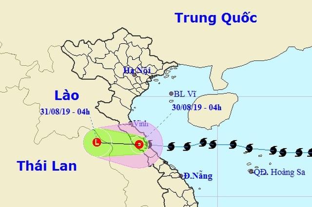 Bão số 4 suy yếu thành áp thấp nhiệt đới, nhiều nơi mưa to - 1