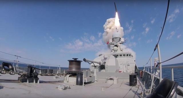 """Video Nga phóng tên lửa """"sát thủ"""" trên Biển Đen - 1"""