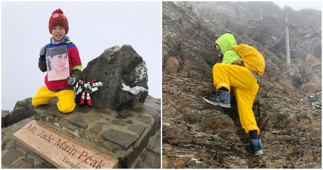Thực hiện lời hứa với mẹ, bé 8 tuổi chinh phục đỉnh núi cao 3952 mét - 1