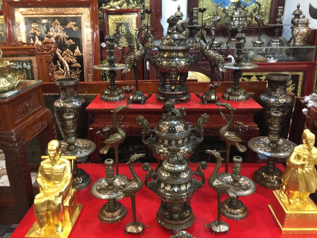 Tinh hoa làng nghề chạm bạc gần 400 năm tuổi - 7