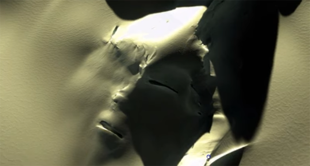 """Phát hiện """"khuôn mặt người ngoài hành tinh"""" khổng lồ bí ẩn ở Nam Cực - 1"""