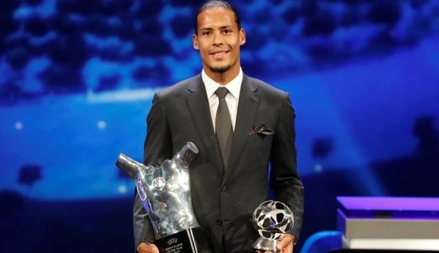 Vượt C.Ronaldo, Messi, Van Dijk giành giải Cầu thủ xuất sắc nhất châu Âu
