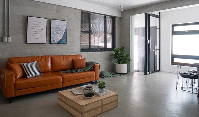Phá cách với căn hộ làm bằng tường xi măng - 1
