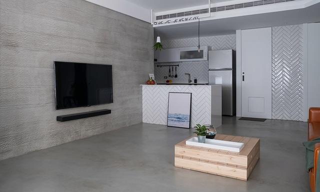 Phá cách với căn hộ làm bằng tường xi măng - 2