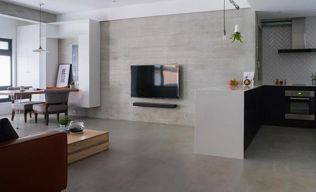 Phá cách với căn hộ làm bằng tường xi măng - 3