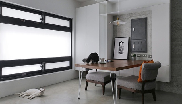 Phá cách với căn hộ làm bằng tường xi măng - 4