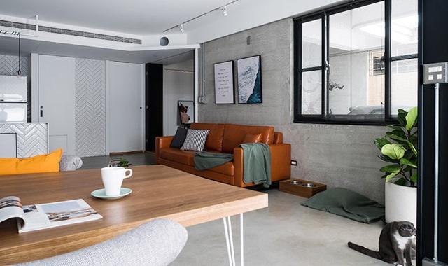 Phá cách với căn hộ làm bằng tường xi măng - 5