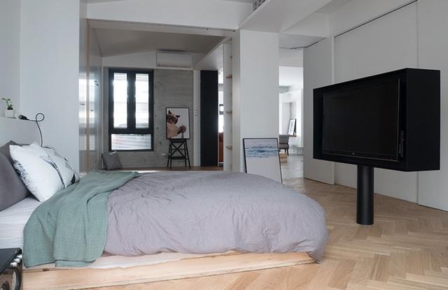 Phá cách với căn hộ làm bằng tường xi măng - 6