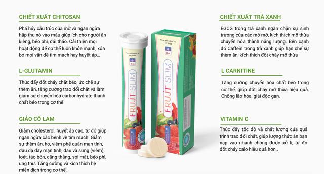 TPBVSK Frujt Slim: Đánh dấu thành công ứng dụng viên sủi hỗ trợ giảm cân có chiết xuất Chitosan  trong vỏ Cua Cà Mau đầu tiên tại Việt Nam - 2