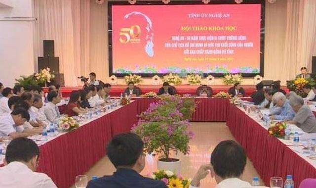 """Nghệ An tổ chức Hội thảo """"50 năm thực hiện Di chúc thiêng liêng của Bác Hồ"""" - 1"""