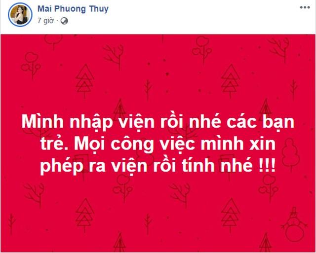 Hoa hậu Mai Phương Thúy phải nhập viện khẩn cấp khiến nhiều người lo lắng - 2