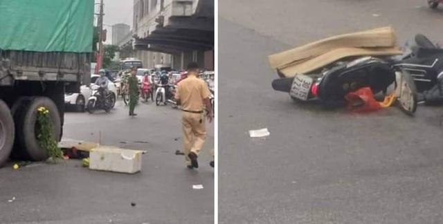 Hà Nội: Va chạm với xe đầu kéo, nữ sinh đi xe máy tử vong tại chỗ - 1