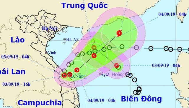 Áp thấp nhiệt đới gần bờ đã vào đất liền Quảng Trị - Thừa Thiên Huế - 1